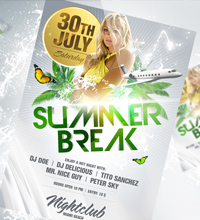 Summer Break Party Flyer - 18
