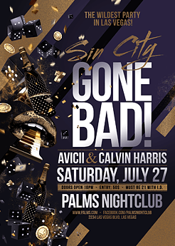 Sin City Gone Bad Party Flyer