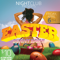 Easter Bunny Bash Flyer
