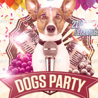 Dogs Party Flyer