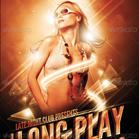 Long Play Party Poster/Flyer