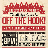 Off the Hook - Typography Flyer & Poster