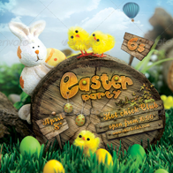 Easter Nature Party Flyer - Hotchick club
