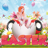 Easter Party And Spring Party Flyers PSD Templates