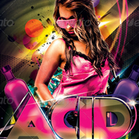 Acid Nation Flyer Template