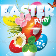Easter Party A5 Flyer Template