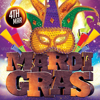 Mardi Gras Flyer Bundle 2 in 1