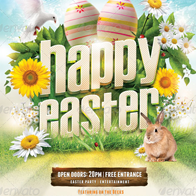 The Easter Madness Flyer Templete PSD