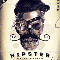 Hipster Rock N Roll Party Flyer/Poster/FB Cover