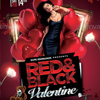 Red & Black Valentine Flyer Template