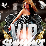 Vip Summer Bash Party Flyer Template