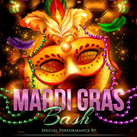 Mardi Gras Bash Flyer Templater