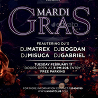 Mardi Gras Party Flyer