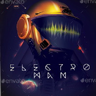 Electro Man Party Flyer/Poster/Facebook Cover