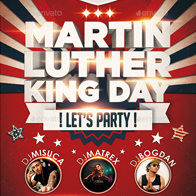 MLK Day Party Flyer