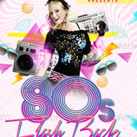 80's Flash Back Night - Flyer Template