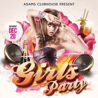 Girls Party Flyer Template