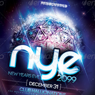 NYE 2099 Party Flyer Template
